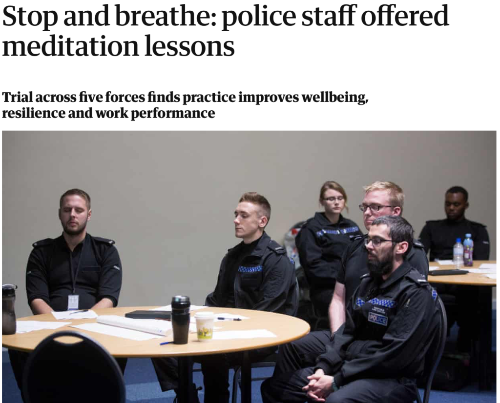 police mindfulness mental health